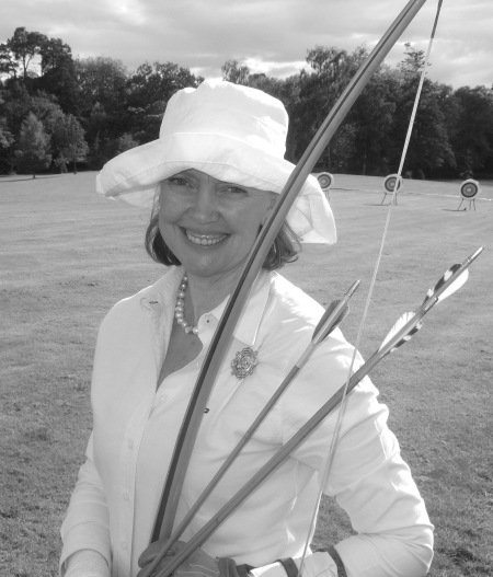 Sophie Neville with her long bow ~ July 2011