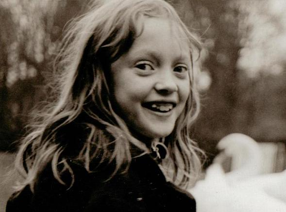 Sophie Neville as a child