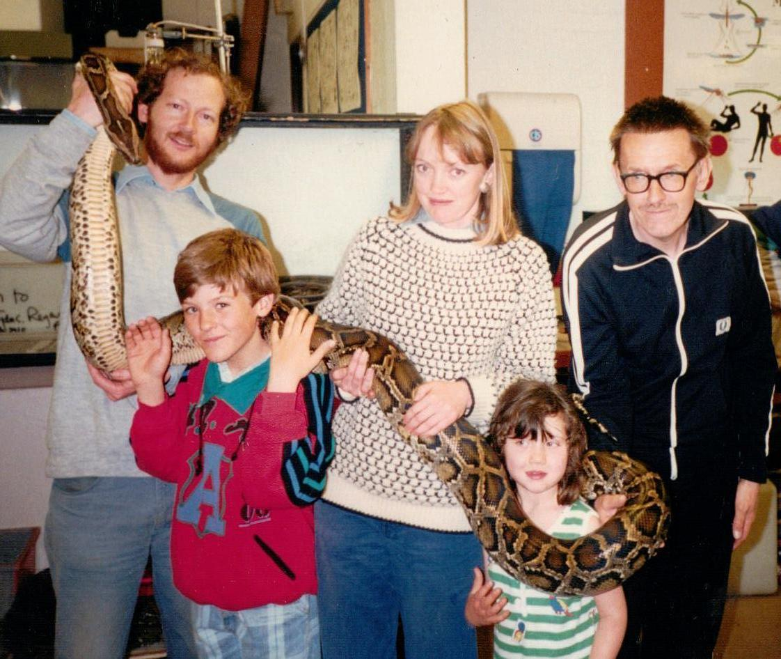Sophie Neville at London Zoo whilst producing a documentary on reptiles