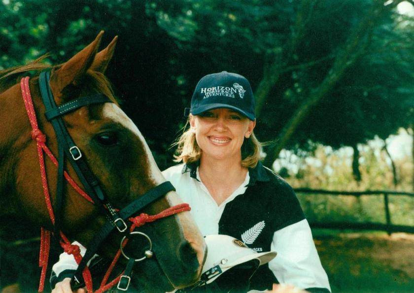Sophie Neville in the Waterberg Polocrosse Team