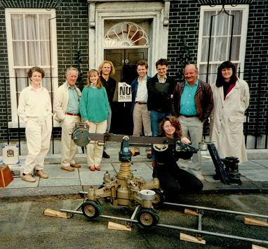 Sophie Neville not at 10 Downing Street but on the lot at Elstree Studios