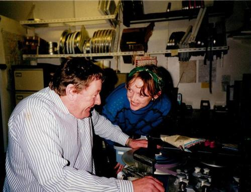 Sophie Neville with film editor Dave Good