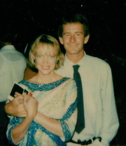 Sophie Neville with Nigel Marven
