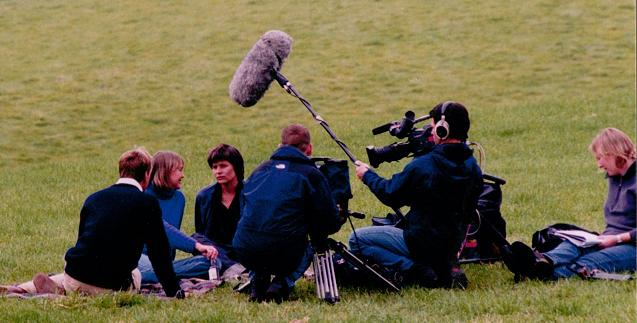 Ben Fogel interviewing Suzanna Hamilton and Sophie Neville for BBC 1