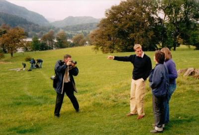 Ben Fogel interviewing Suzanna Hamilton and Sophie Neville at Bank Ground Farm in cumbria