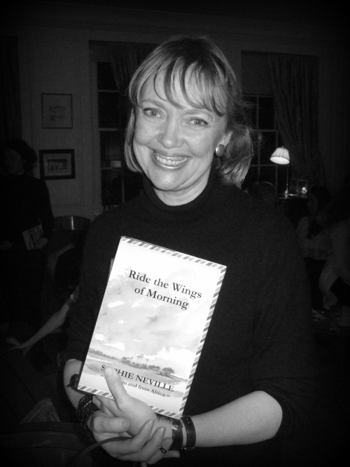 Writer Sophie Neville with her new book 'Ride the Wings of Morning'