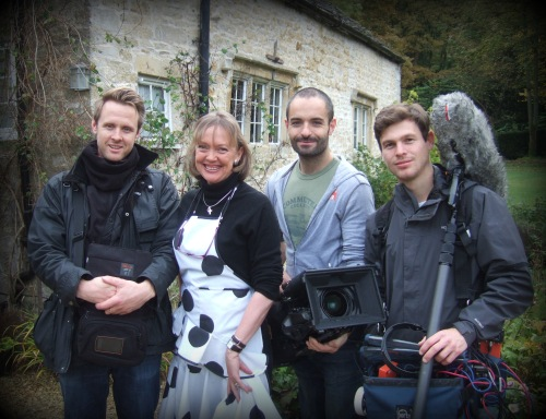 Sophie Neville with the film crew from Betty Television for Channel 4