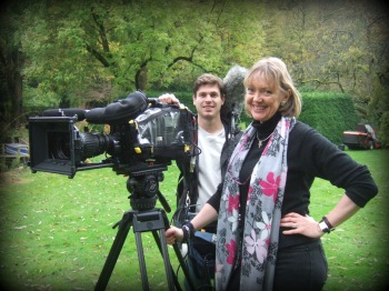 Sophie Neville filming in the Cotswolds