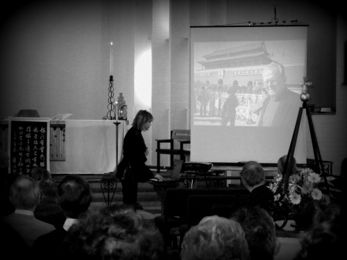 Sophie Neville speaking at St Barnabus, Winchester ~ October 2012