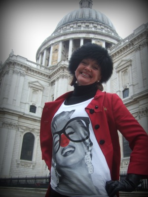 Sophie Neville supporting Comic Relief