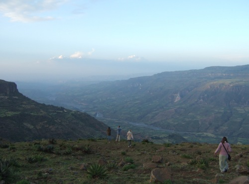 Sophie Neville in the Ethiopian Highlands