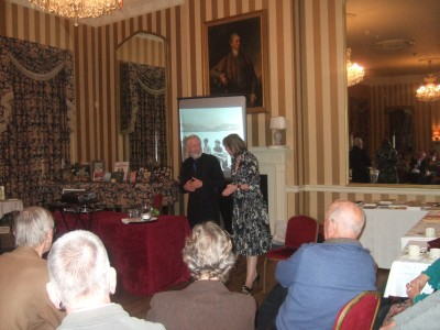 Author Sophie Neville speaking at The Arthur Ransome Society