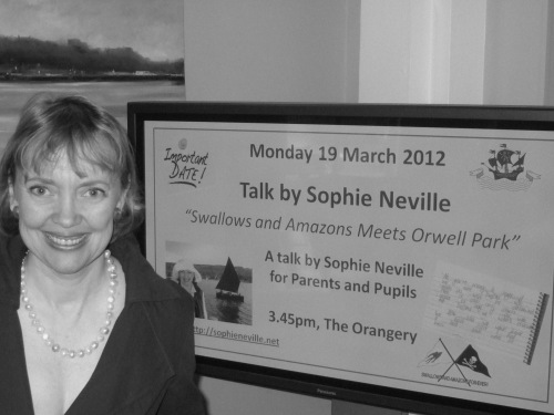 Sophie Neville speaking at Orwell Park near Ispwich