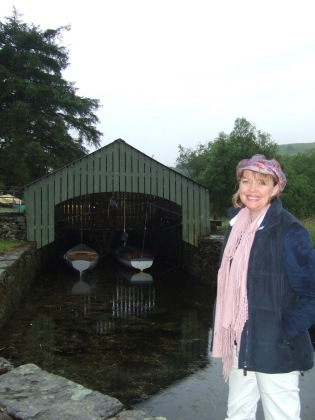 Sophie Neville on Coniston Water in the Lake District