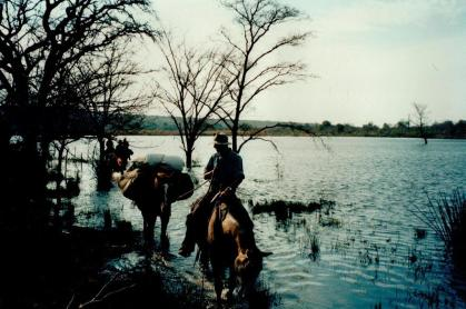 Shane Dowinton of Horizon Horseback Adventures in the Waterberg