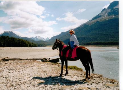 Sophie Neville riding in New Zealand