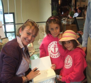 Sophie Neville signing books in Ambleside