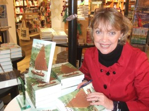 Sophie Neville signing books in Waterstones