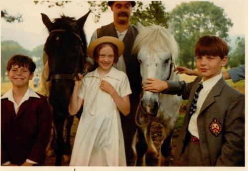 Sophie Neville holding the horses