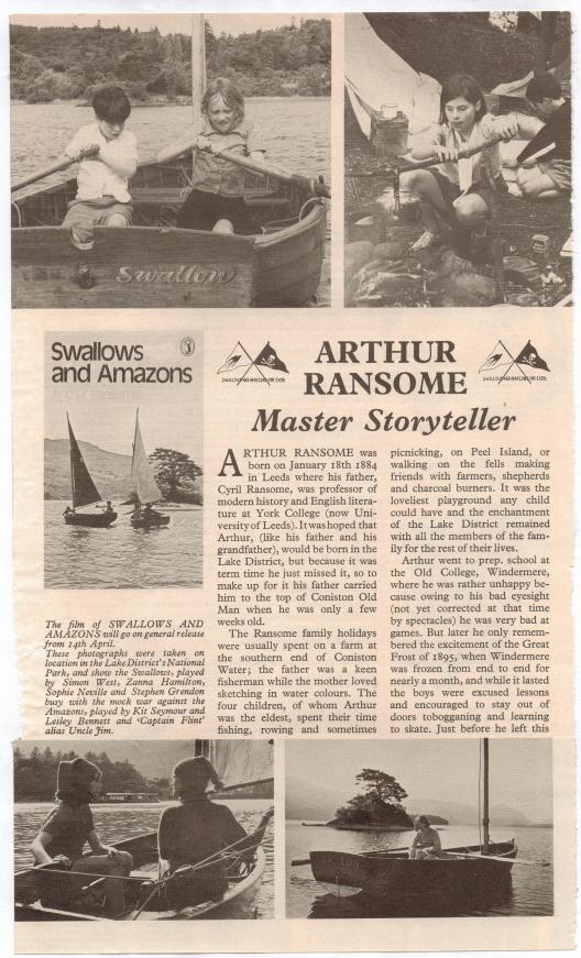 Article on Swallows and Amazons on Puffin Magazine