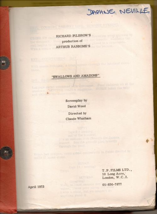 David Wood's screenplay of Swallows and Amazons