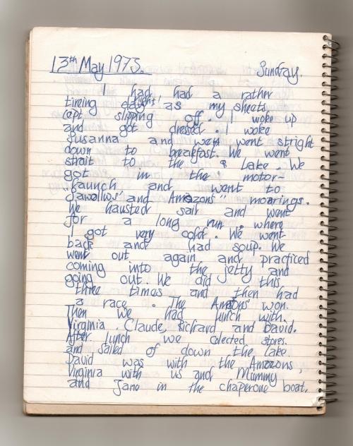 Swallows Diary 13th May