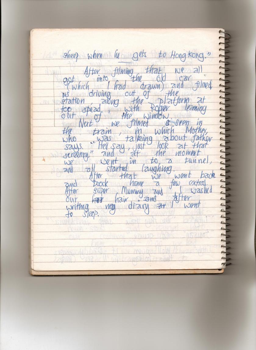 Swallows Diary 14th May page three