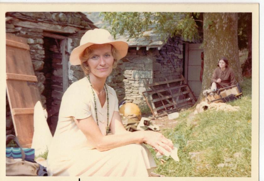 Virginia McKenna on location at Bank Ground Farm ~ photo:Daphne Neville