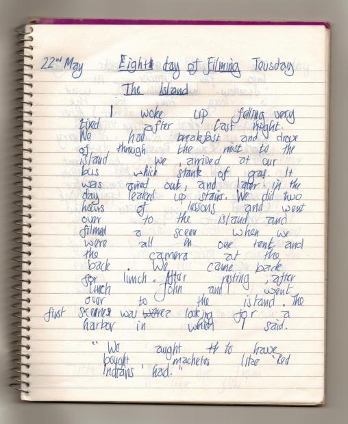 Diary kept on a movie set