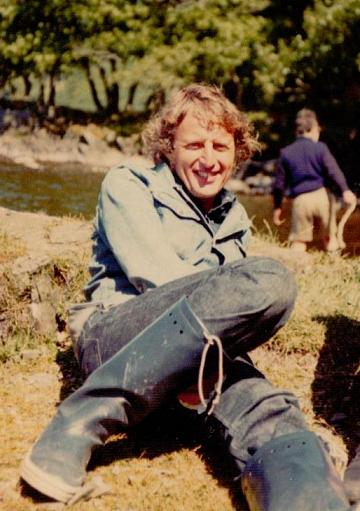 Claude Whatham on the shore of Coniston Water ~ photo: Daphne Neville