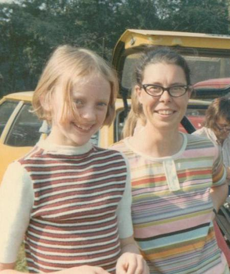 Sophie Neville with Jane Grendon in 1973