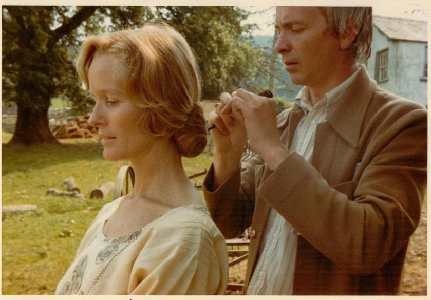 Virginia McKenna with Hairdresser Ronnie Cogan