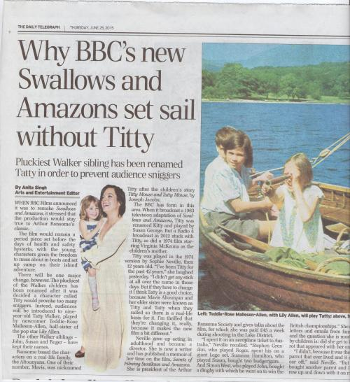 Daily Telegraph - 25th July 2015
