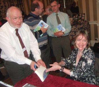 Sophie Neville signing books
