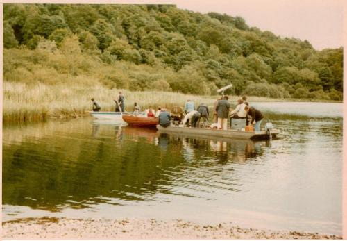 Filming the fishing scene