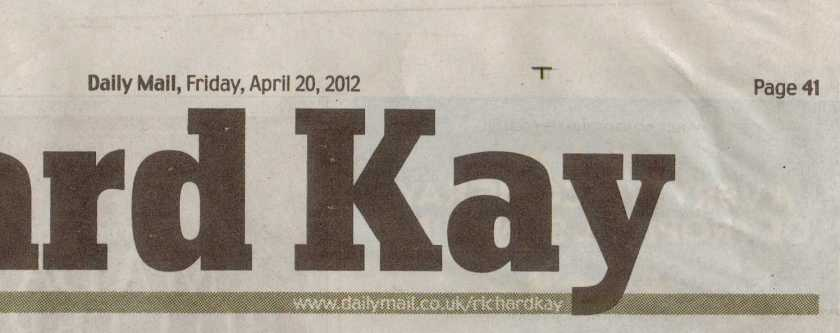 Richard Kay's page in the Daily Mail