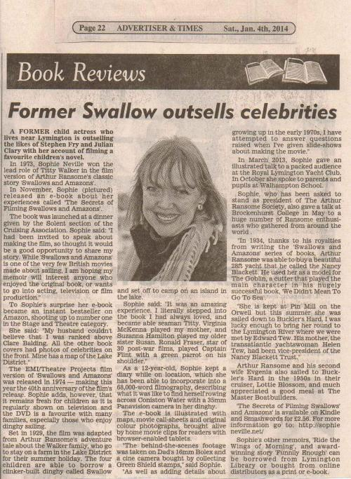 Lymington Times 4th Jan 2014