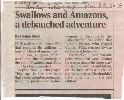 Saturday Telegraph Nov 23rd 2013