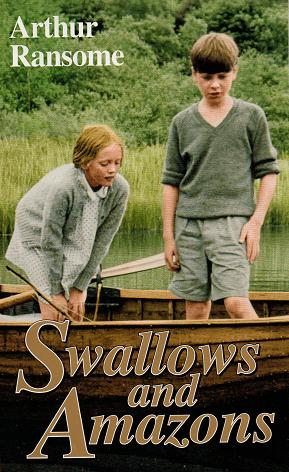 Sophie Neville and Simon West on the cover of 'Swallows and Amazons' published by the Daily Mail