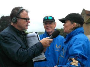 Sophie Neville being interviewed on BBC Radio