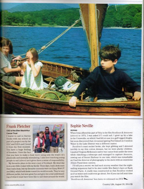 The Making of Swallows & Amazons featured in Country Life