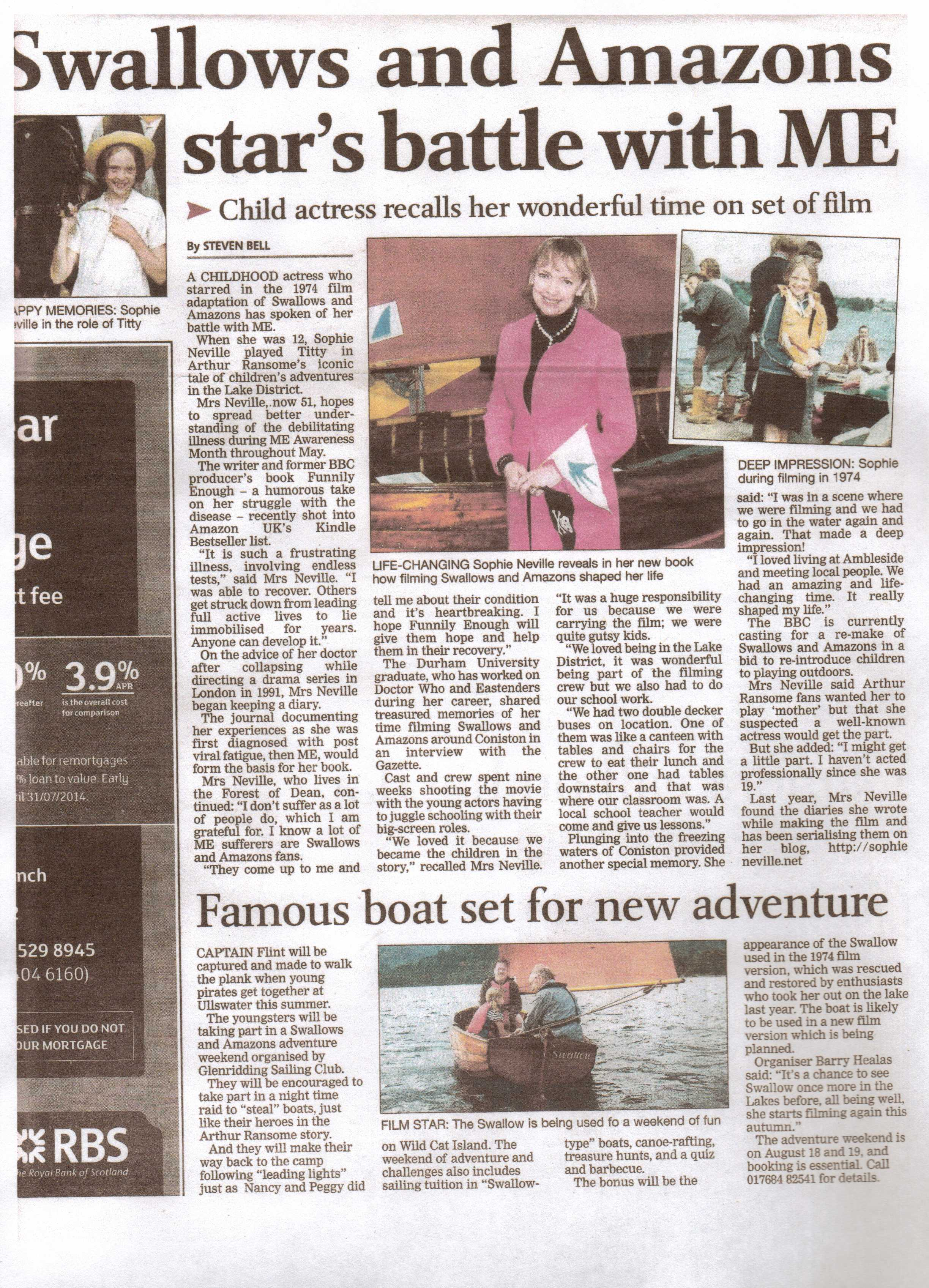 Westmorland Gazette review of Funnily Enough by Sophie Neville