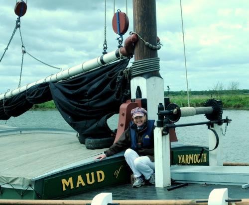 Aboard Wherry Maud - photo Diana Dicker