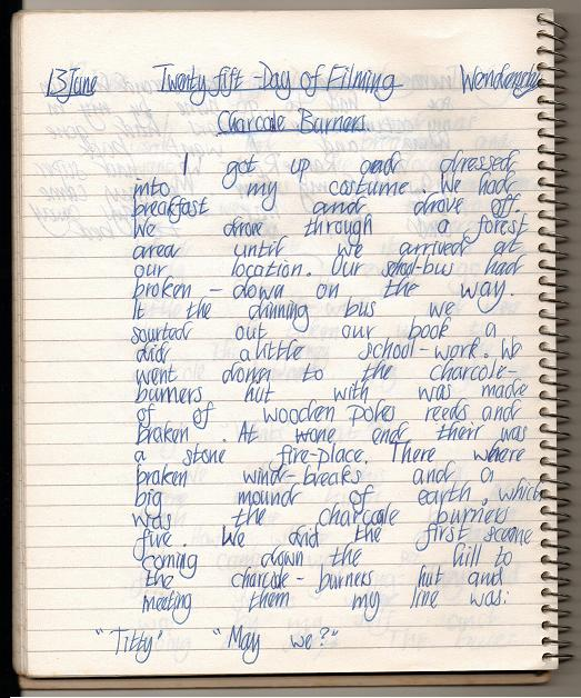 13th June - My diary page one