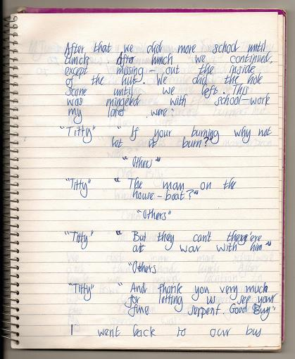 13th June - My Diary page two