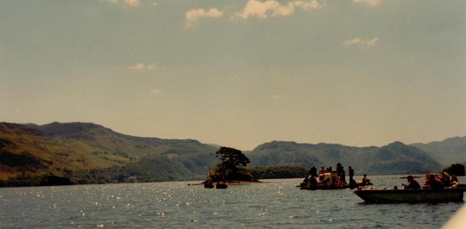 Cormorant Island and the camera boats