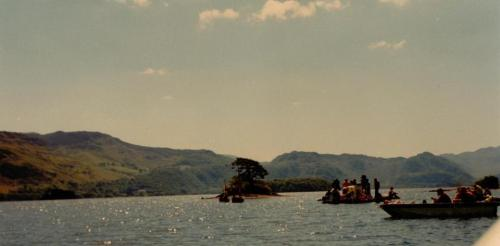 Cormorant Island and the camera boats