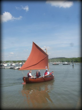 Swallow, the dinghy who starred in the 1974 movie of 'Swallows & Amazons'