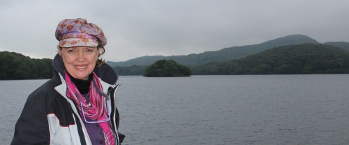 Sophie Neville at Peel Island on Coniston Water 2017