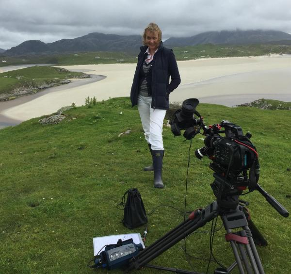 Sophie Neville filming on Lewis with Ged Yeates trimmed